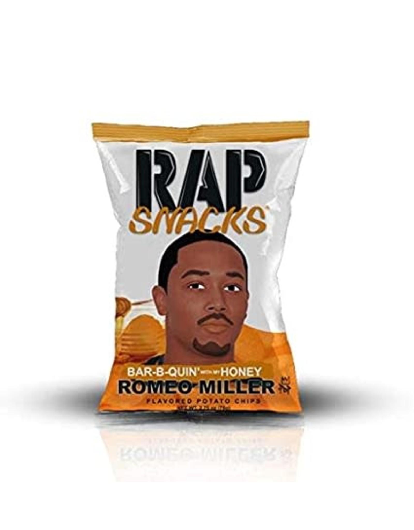 Rap Snacks - Romeo Miller - Bar-B-Quin' with my Honey - Potato Chips - 78g - BBD: 12/2020