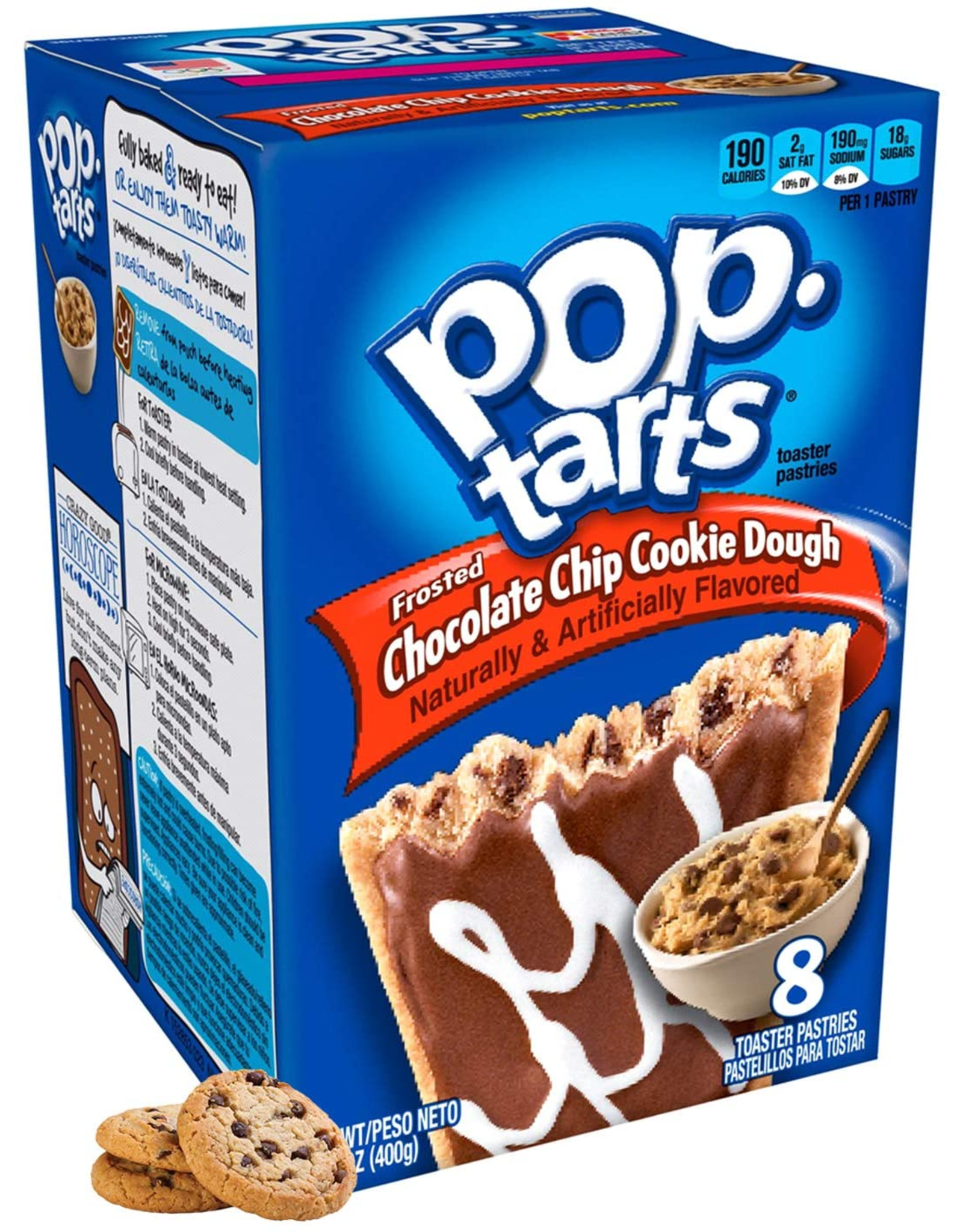 Pop-Tarts Frosted Chocolate Chip Cookie Dough - 8 Pack