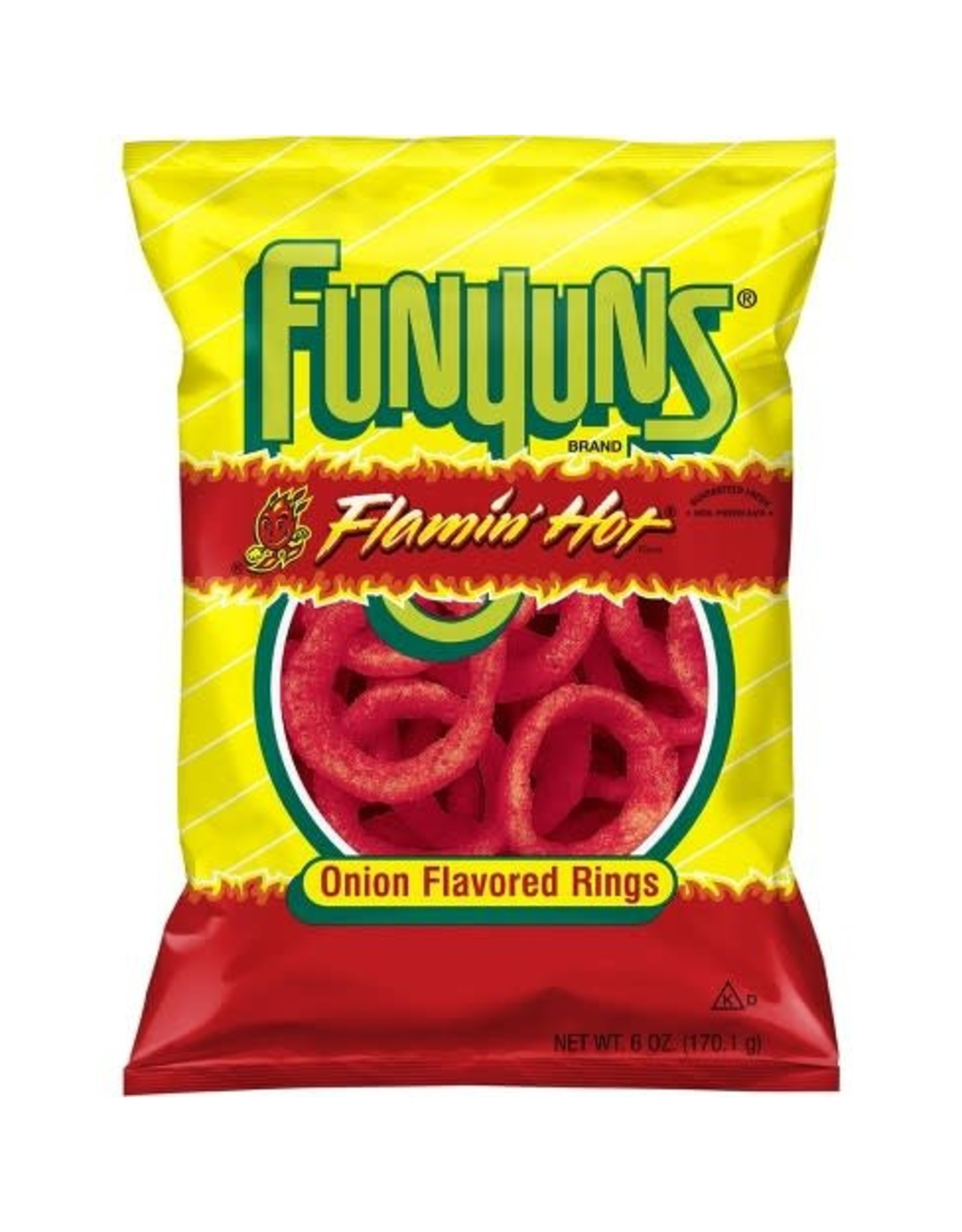 Funyuns Flamin' Hot - Onion Flavored Rings - Large - 163g
