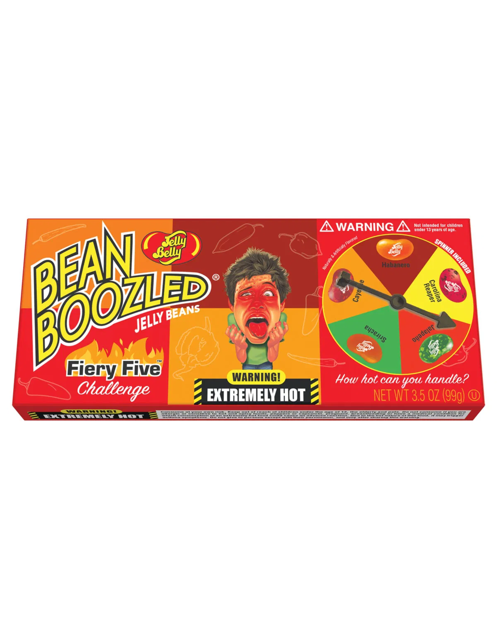 Jelly Belly Bean Boozled Jelly Beans - Flaming Five Challenge - Spinner Included - 100g
