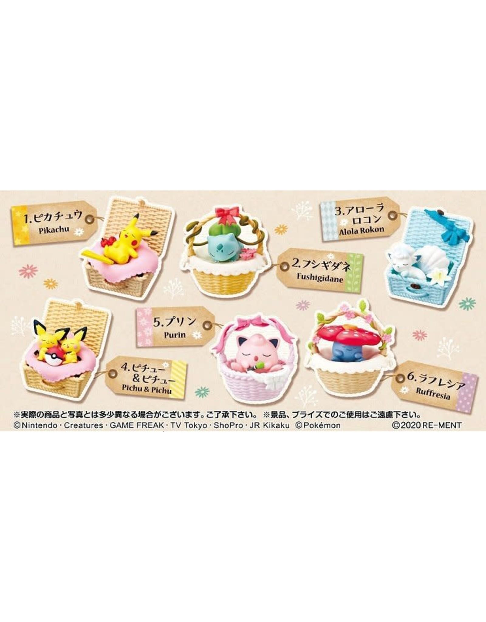 Re-Ment - Pokémon - Utatane Basket - 1 willekeurig item