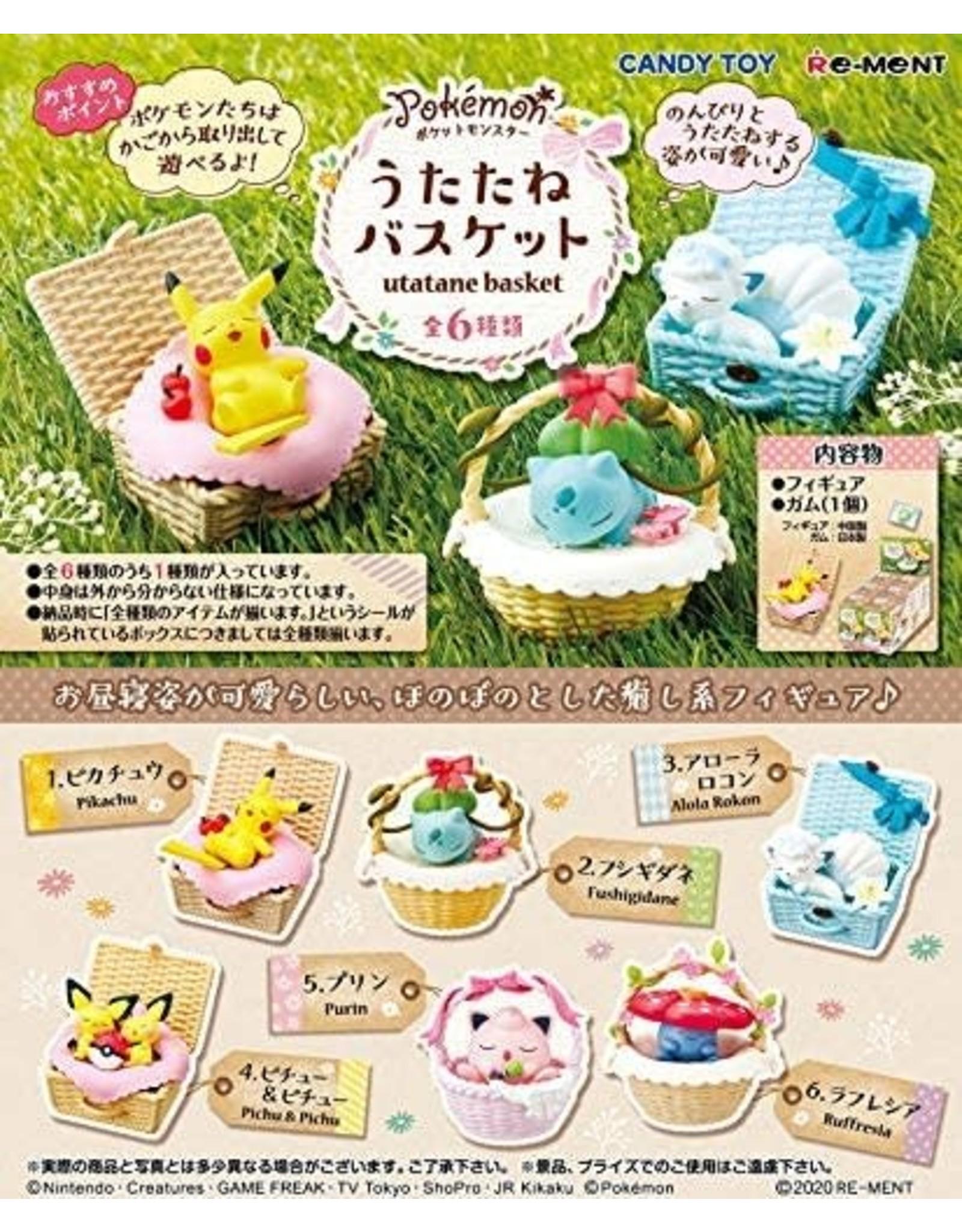 Re-Ment - Pokémon - Utatane Basket - Complete set of 6
