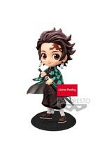 Demon Slayer: Kimetsu no Yaiba - Tanjiro Kamado Ver. A - QPosket Mini Figure - 14 cm