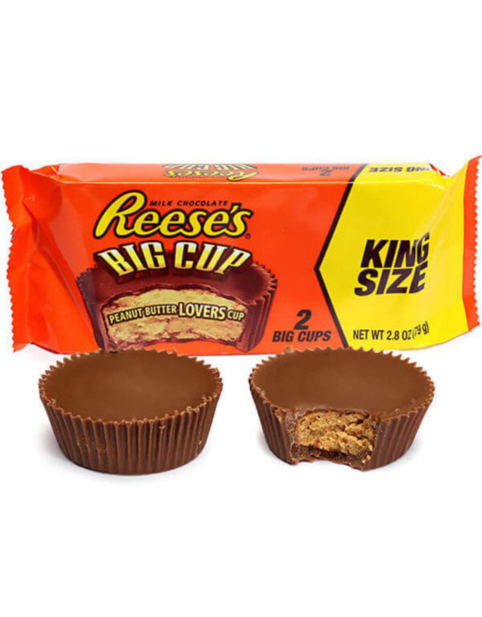 Reese's Big Cup - King Size - 2 Big Cups - 79g