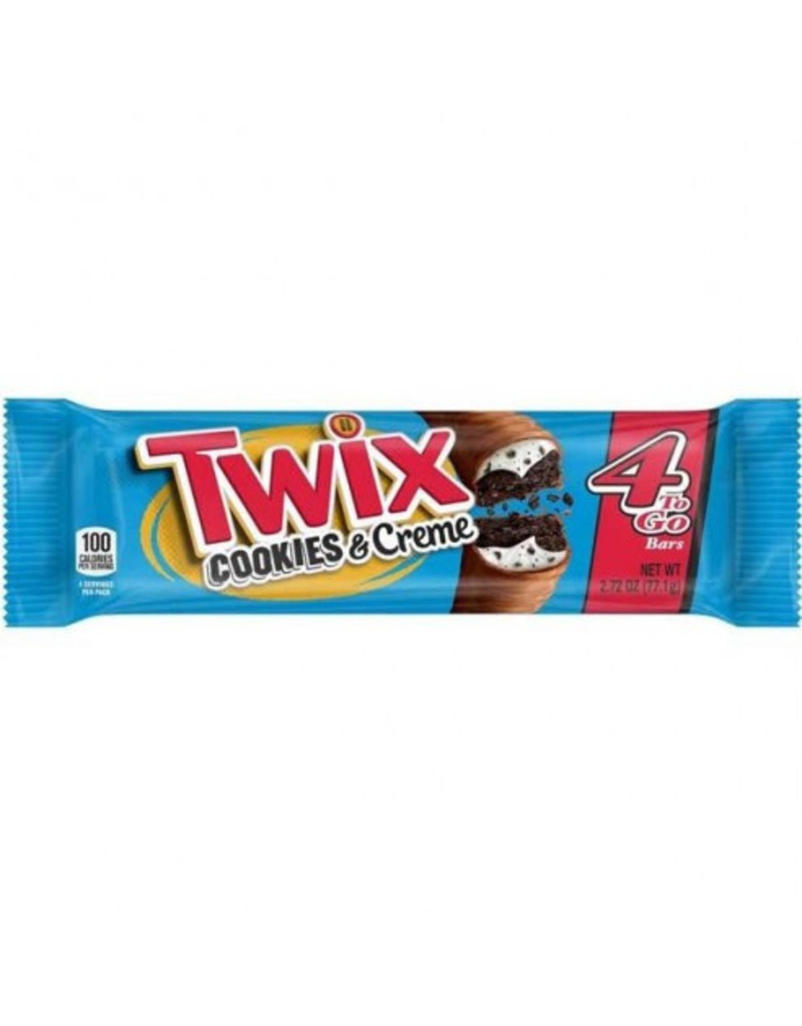 Twix Cookies & Creme - Share Size - 4 bars - 77g