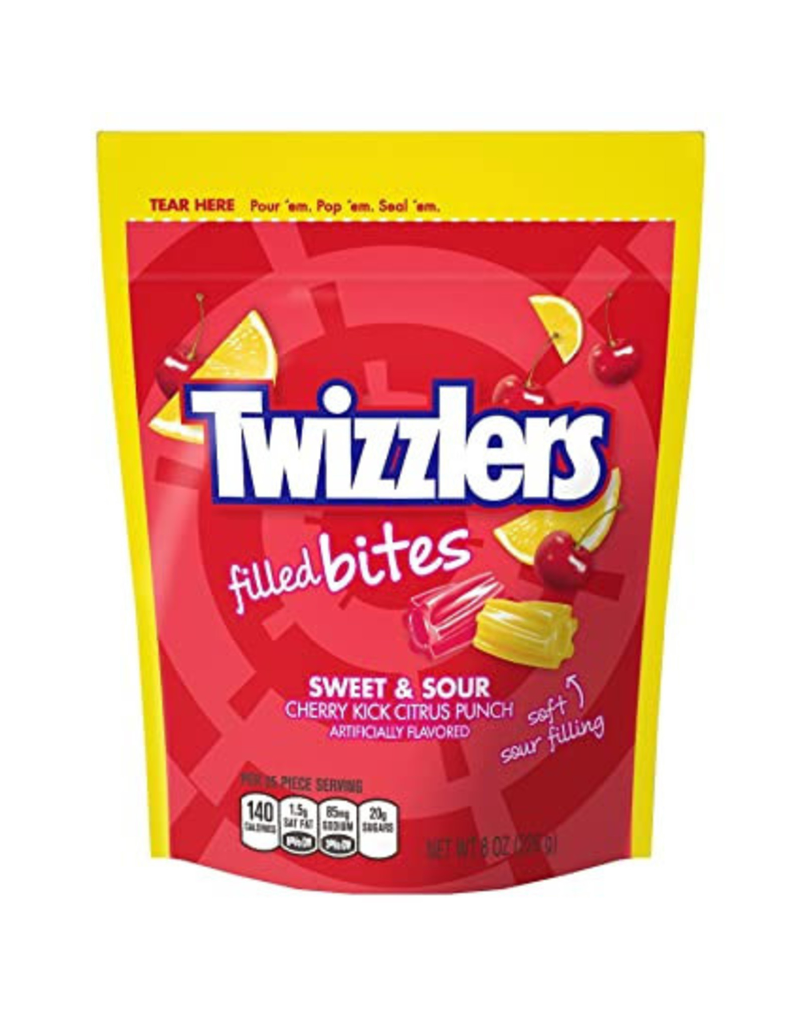 Twizzlers Filled Bites - Sweet & Sour - 226g
