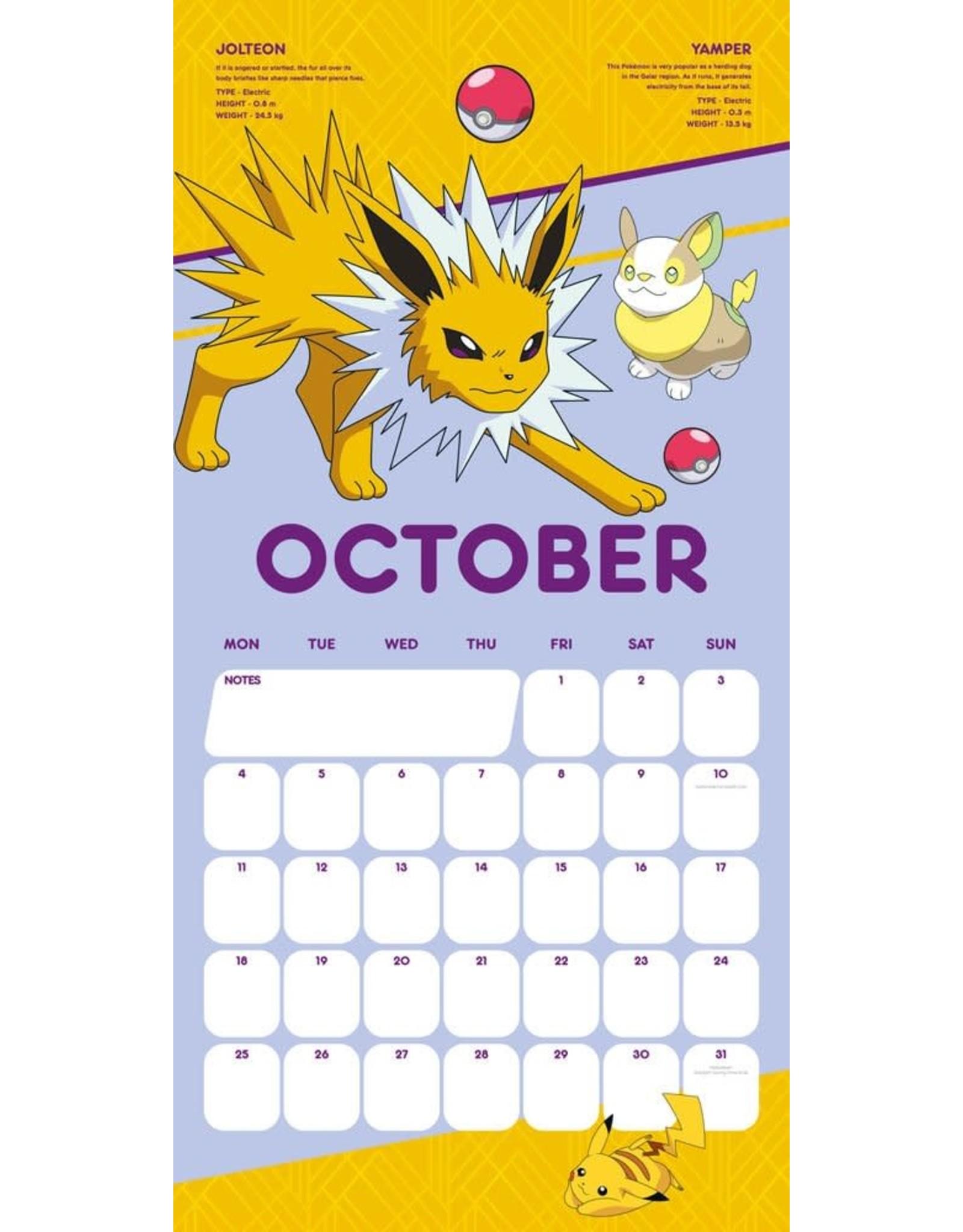 Pokémon Calendar 2021