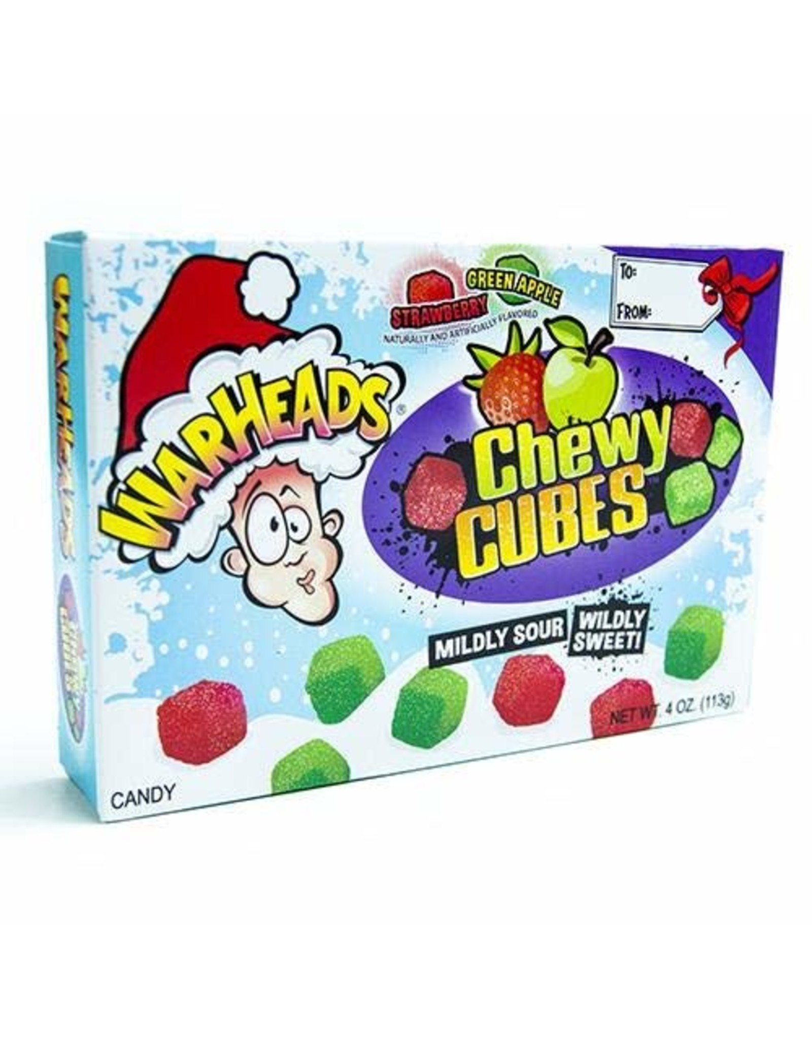 Warheads Holiday Chewy Cubes - 113g