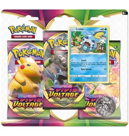 Pokemon Sword & Shield: Vivid Voltage - 3 Booster Blister