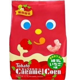 Caramel Corn Strawberry Milk