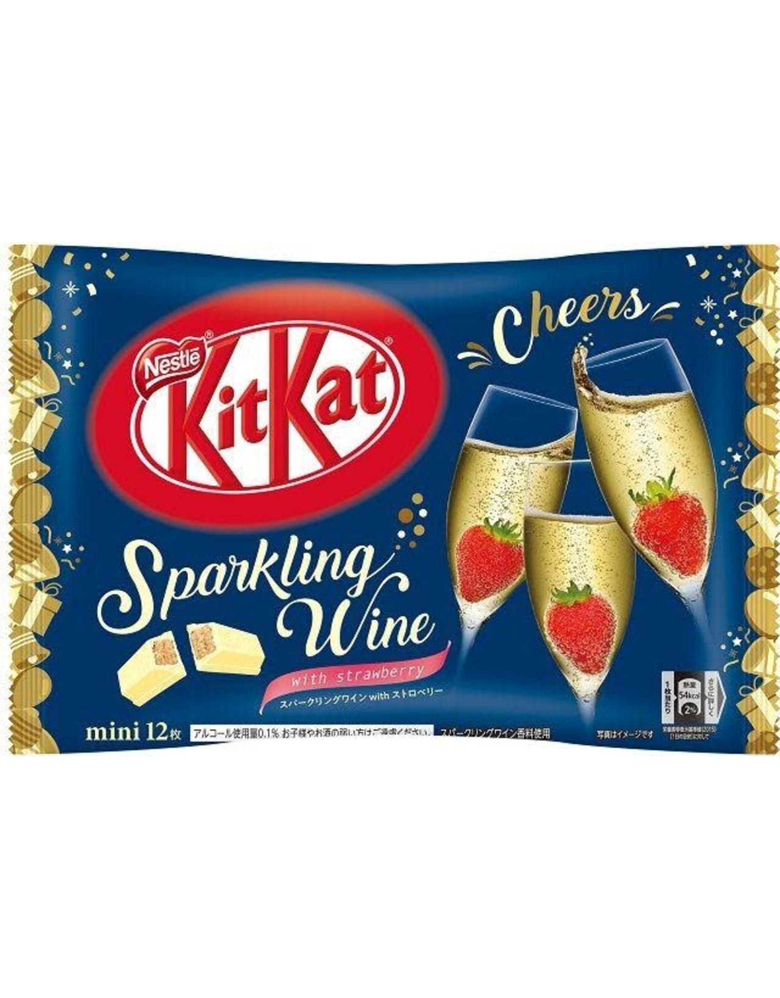 KitKat Mini Sparkling Wine with Strawberry