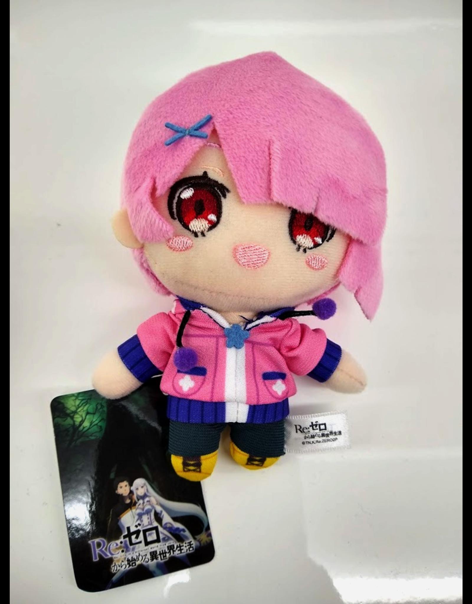 Re:Zero Mascot Plush - Ram Pink Jacket - Nesoberi Plush - 12cm