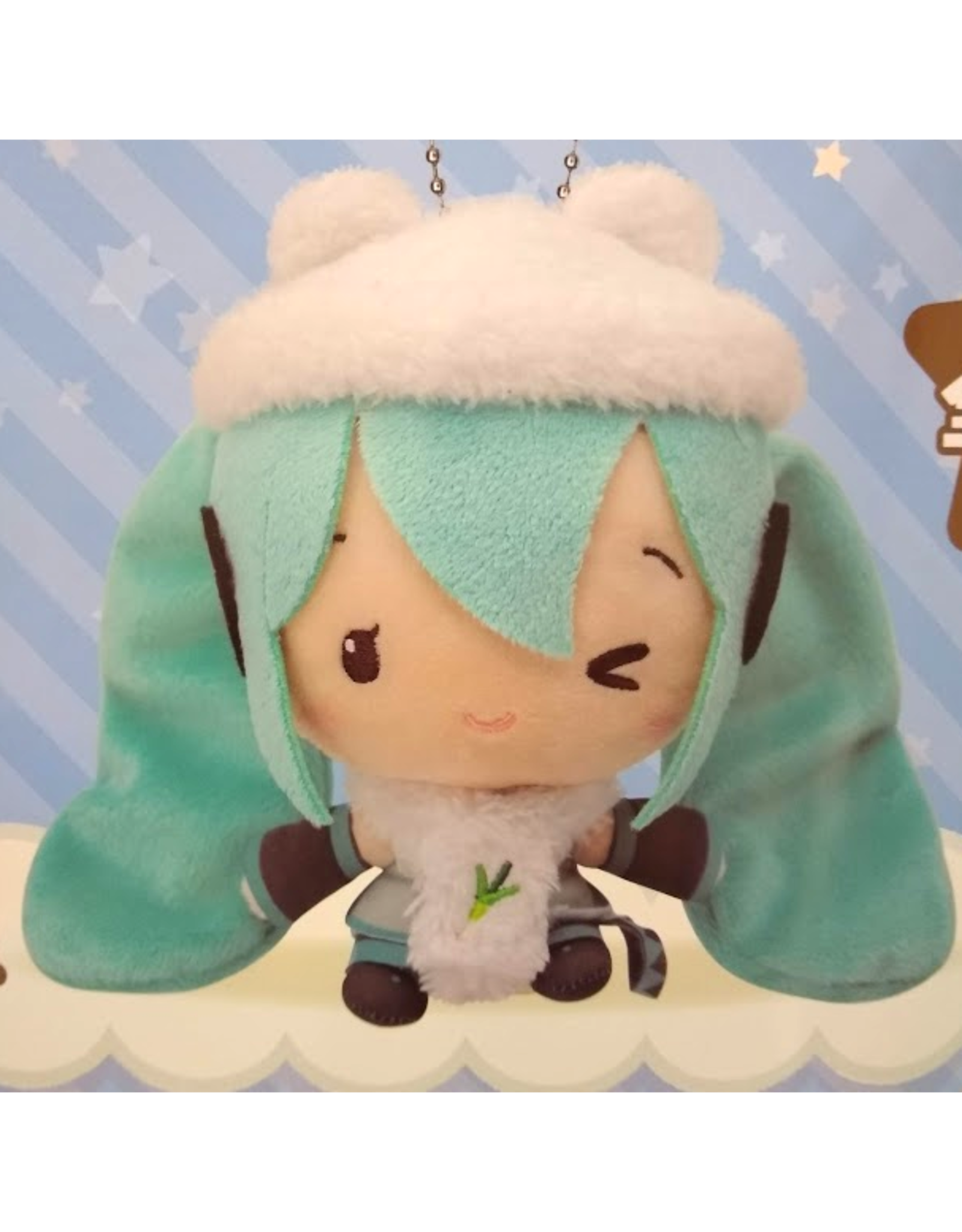 Hatsune Miku Cute Plush Winter Version - White Beanie - 14 cm