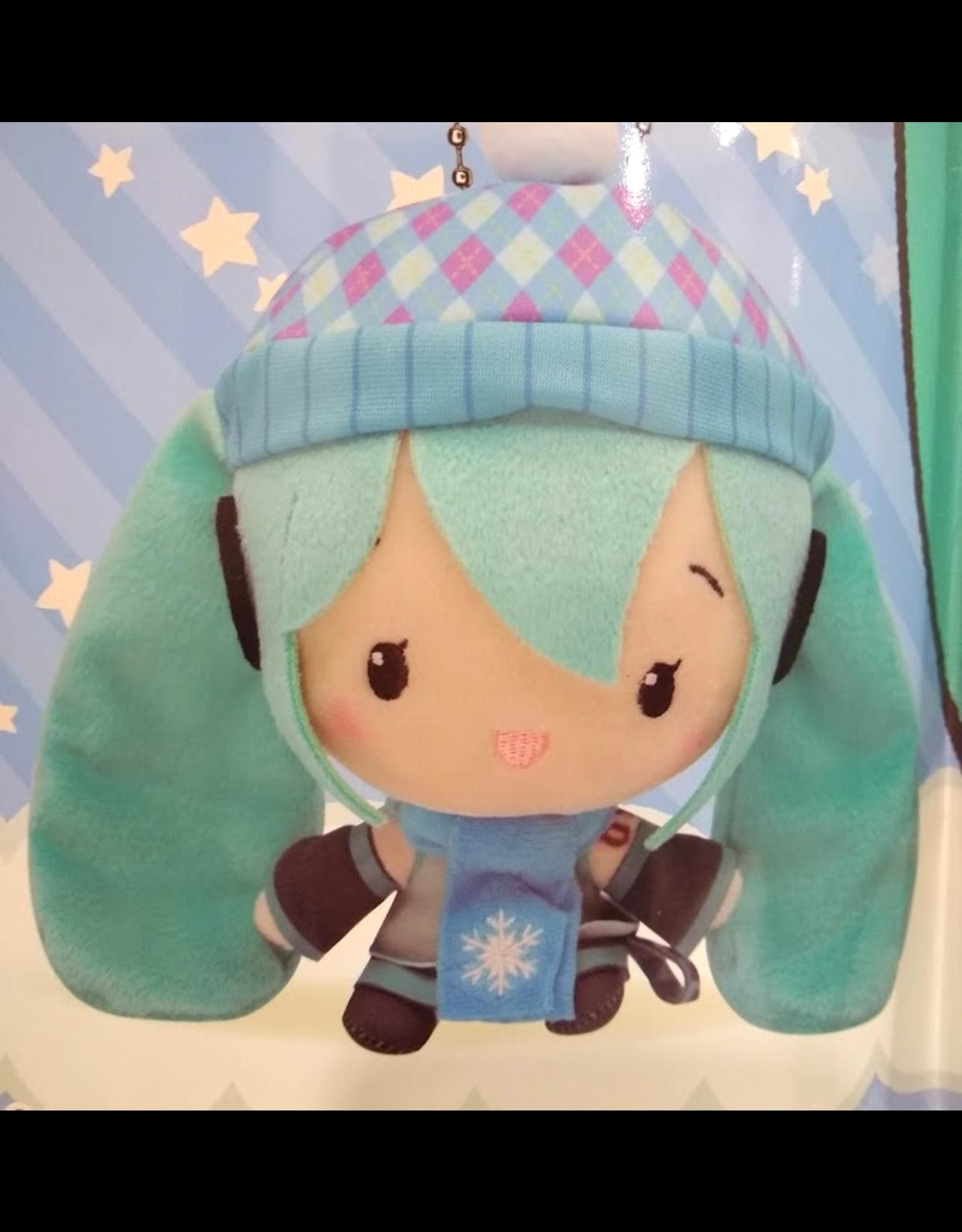 Hatsune Miku Cute Plush Winter Version - Chequered Beanie - 14 cm