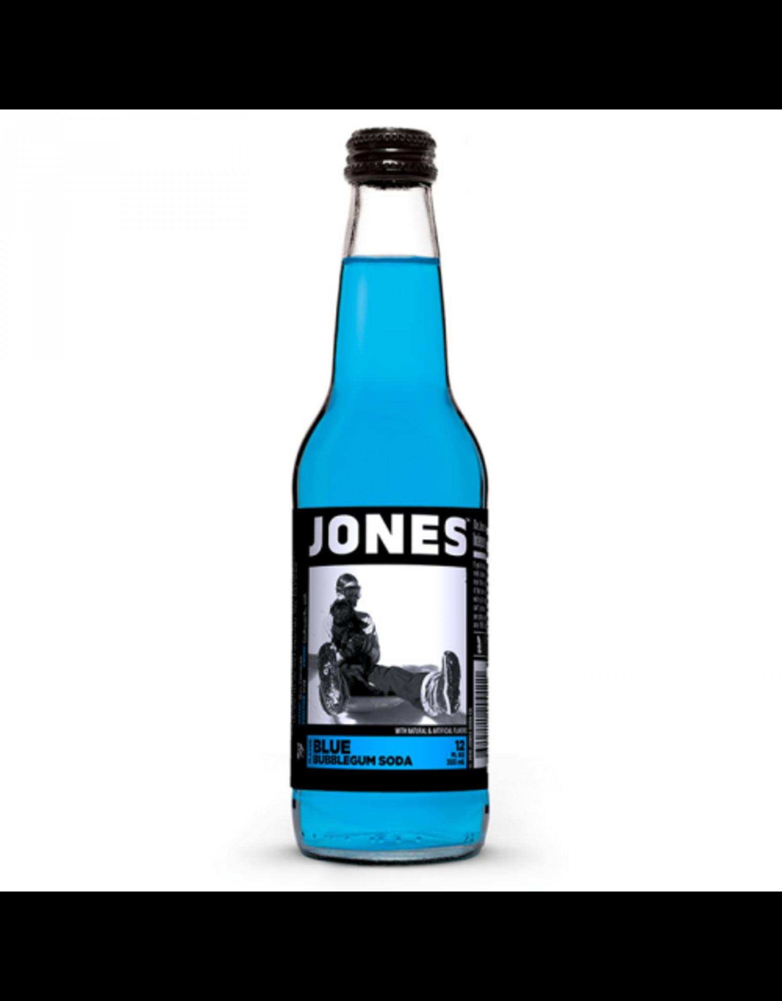 Jones - Blue Bubblegum Soda - Cane Sugar Soda - 355ml