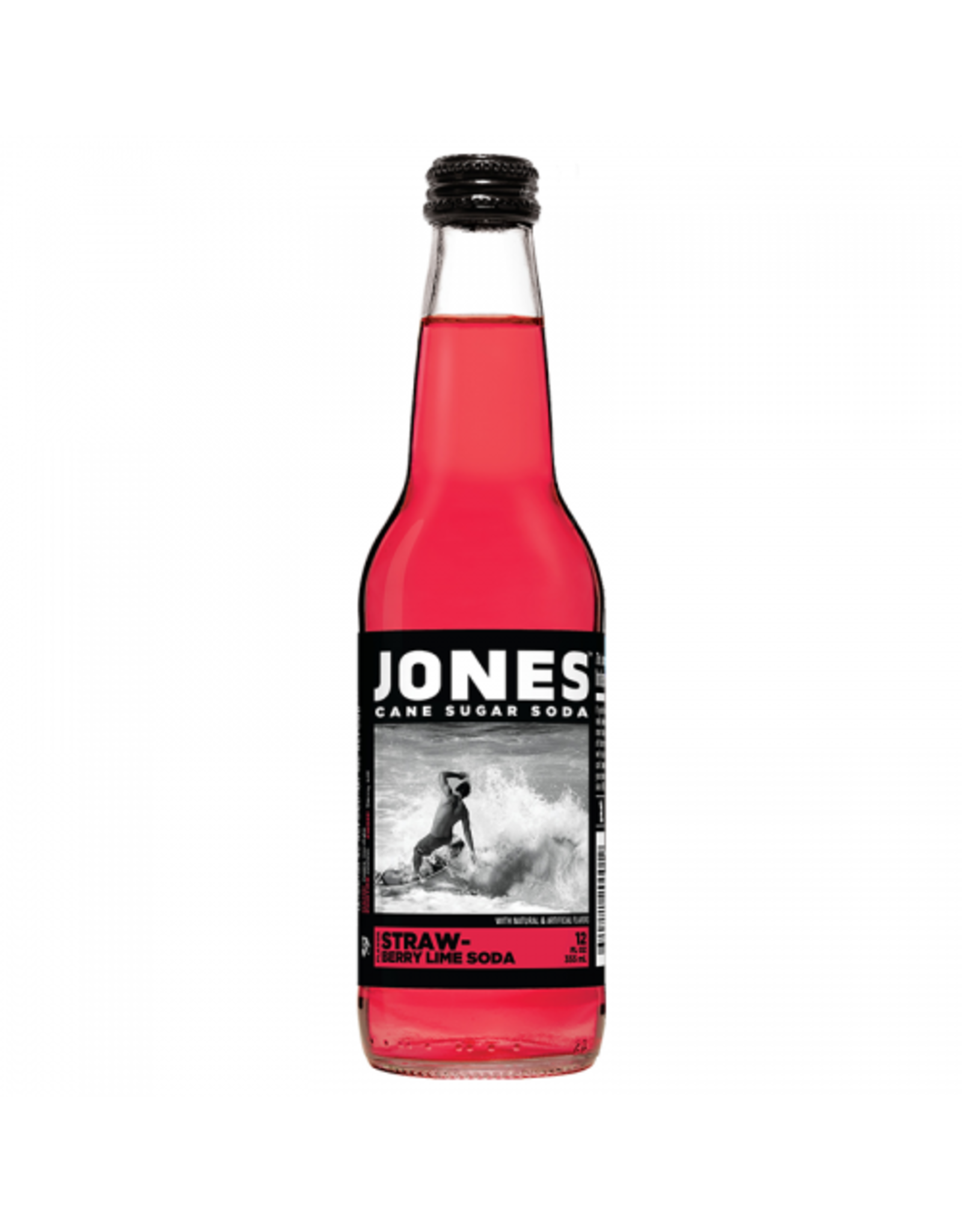 Jones - Strawberry Lime Soda - Cane Sugar Soda - 355ml