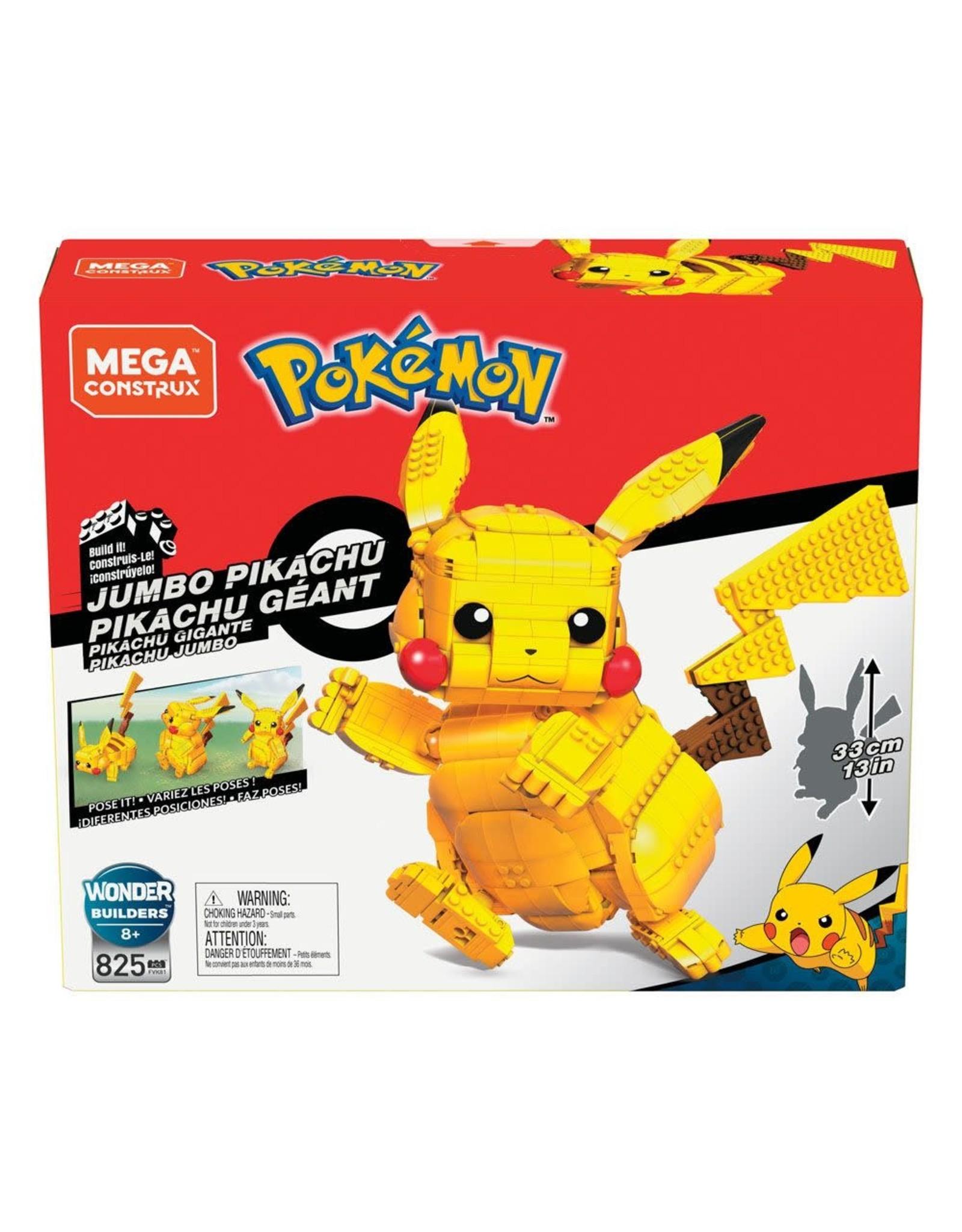 Pokémon - Jumbo Pikachu - Mega Construx Wonder Builders Construction Set - 33 cm