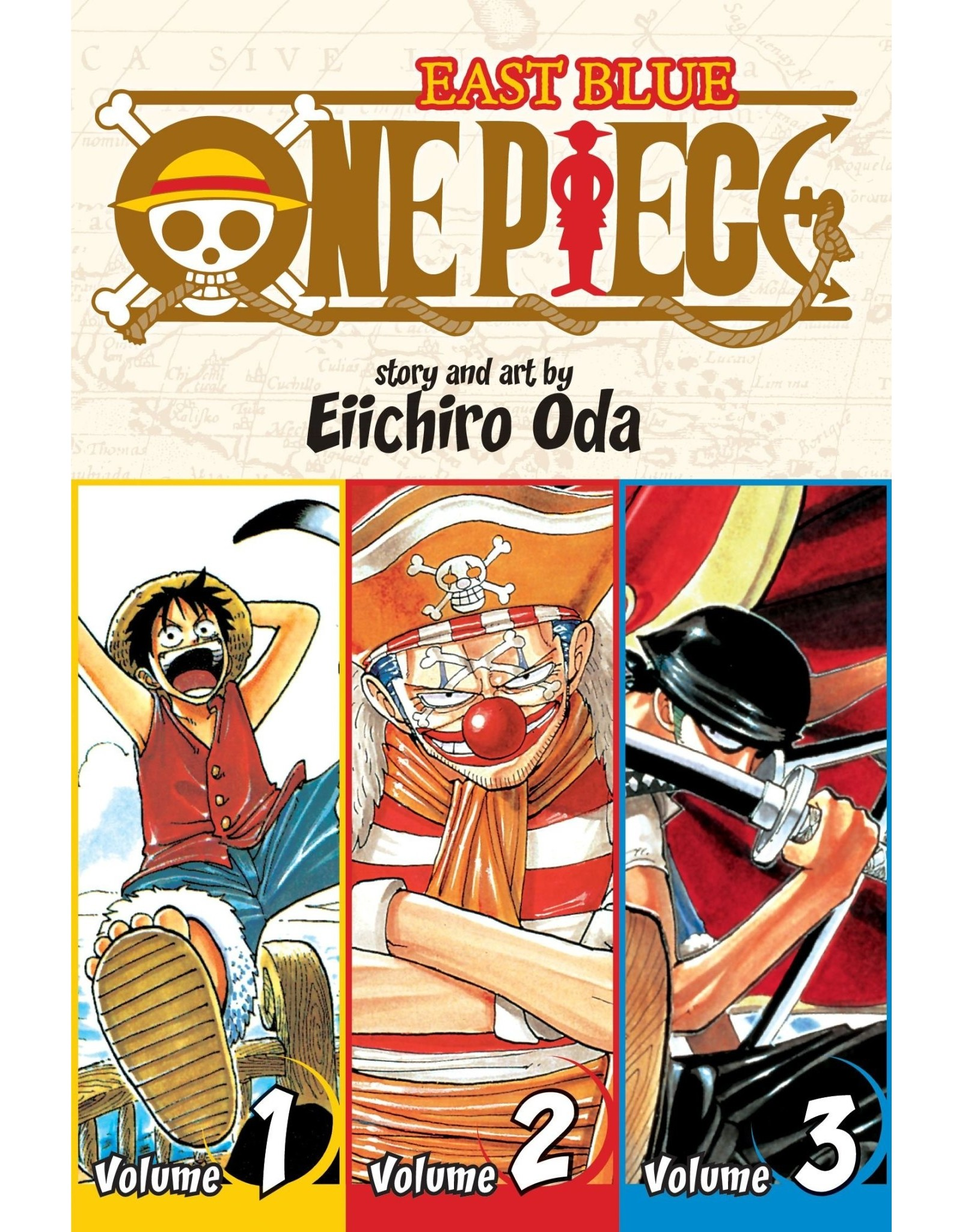 One Piece East Blue Volumes 1-2-3 (Engelstalig)