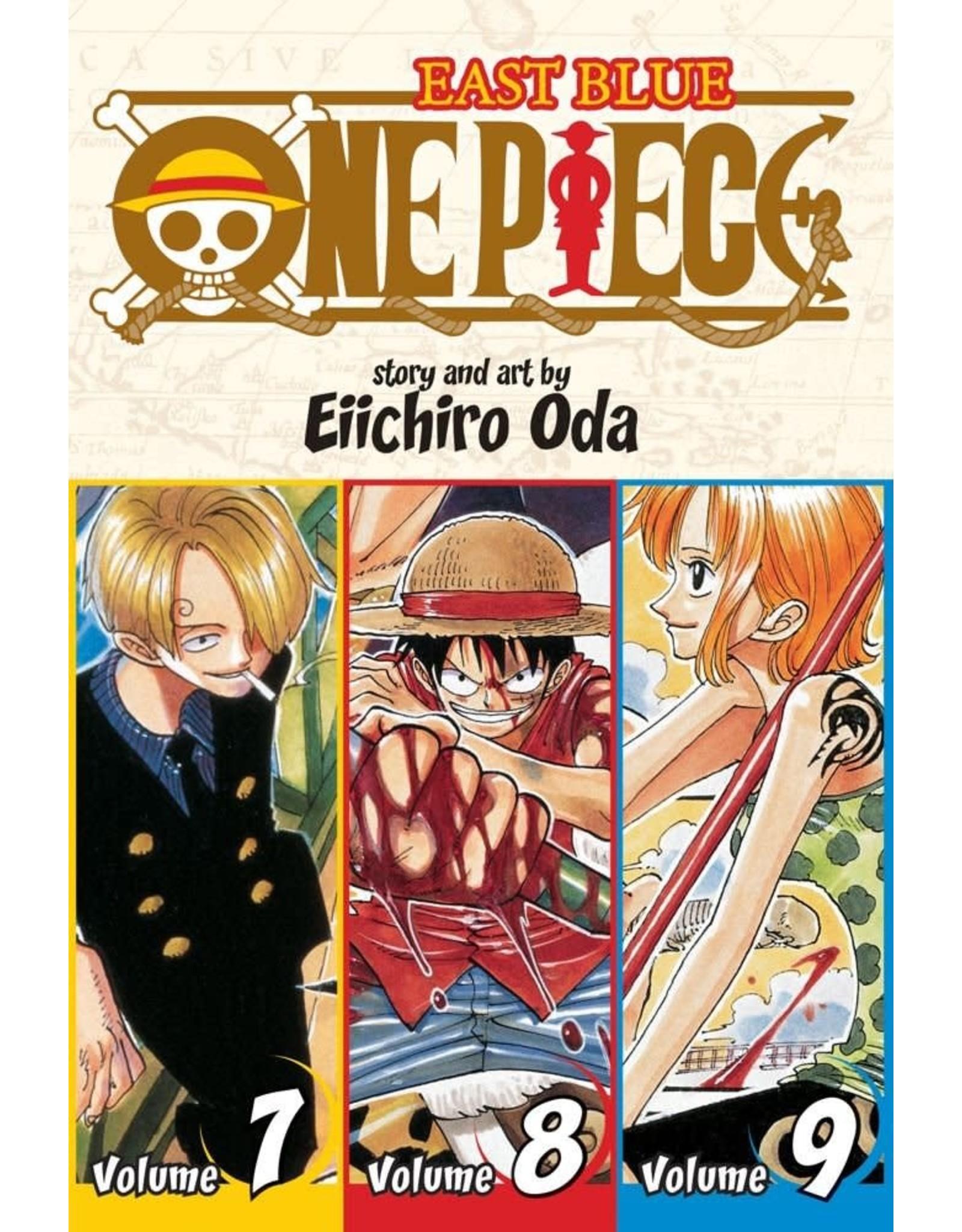 One Piece East Blue Volumes 7-8-9 (Engelstalig)