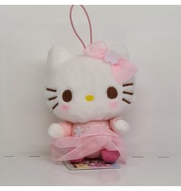Sanrio Yurukawa Character Series Sakura Plush - Hello Kitty - 10 cm
