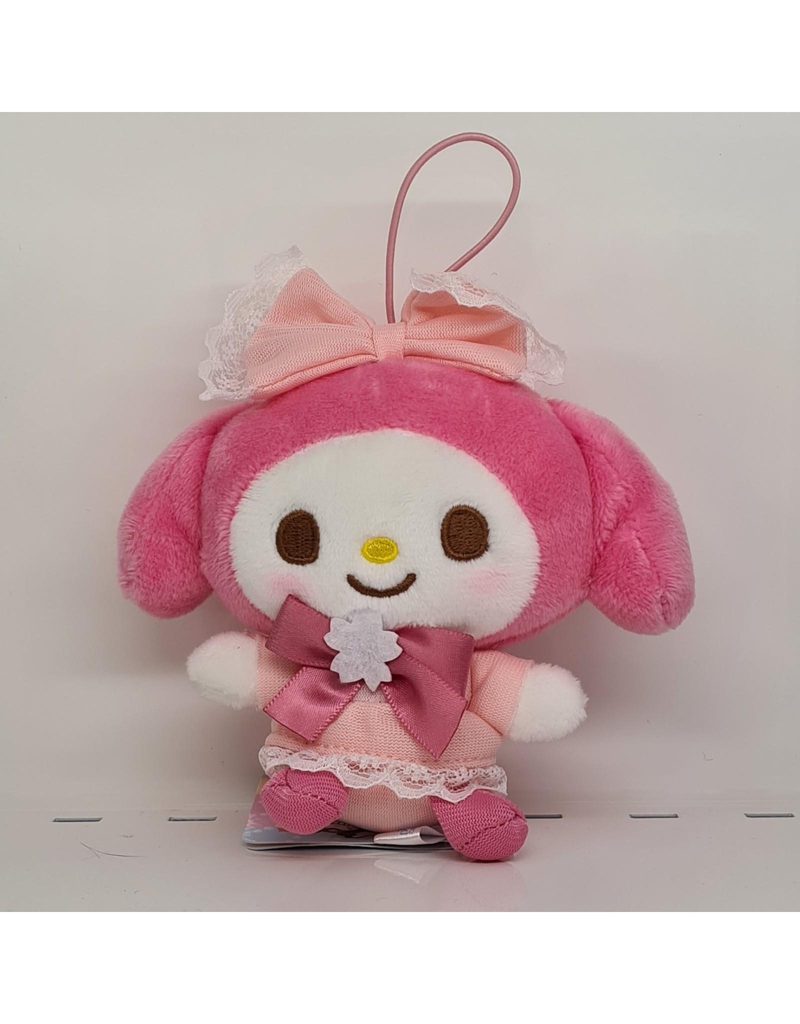 Sanrio Yurukawa Character Series Sakura Plush - My Melody - 10 cm