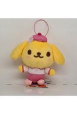 Sanrio Yurukawa Character Series Sakura Plush - Pompompurin - 10 cm