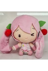 Hatsune Miku Cute Plush Sakura Miku Version - Wink - 14 cm
