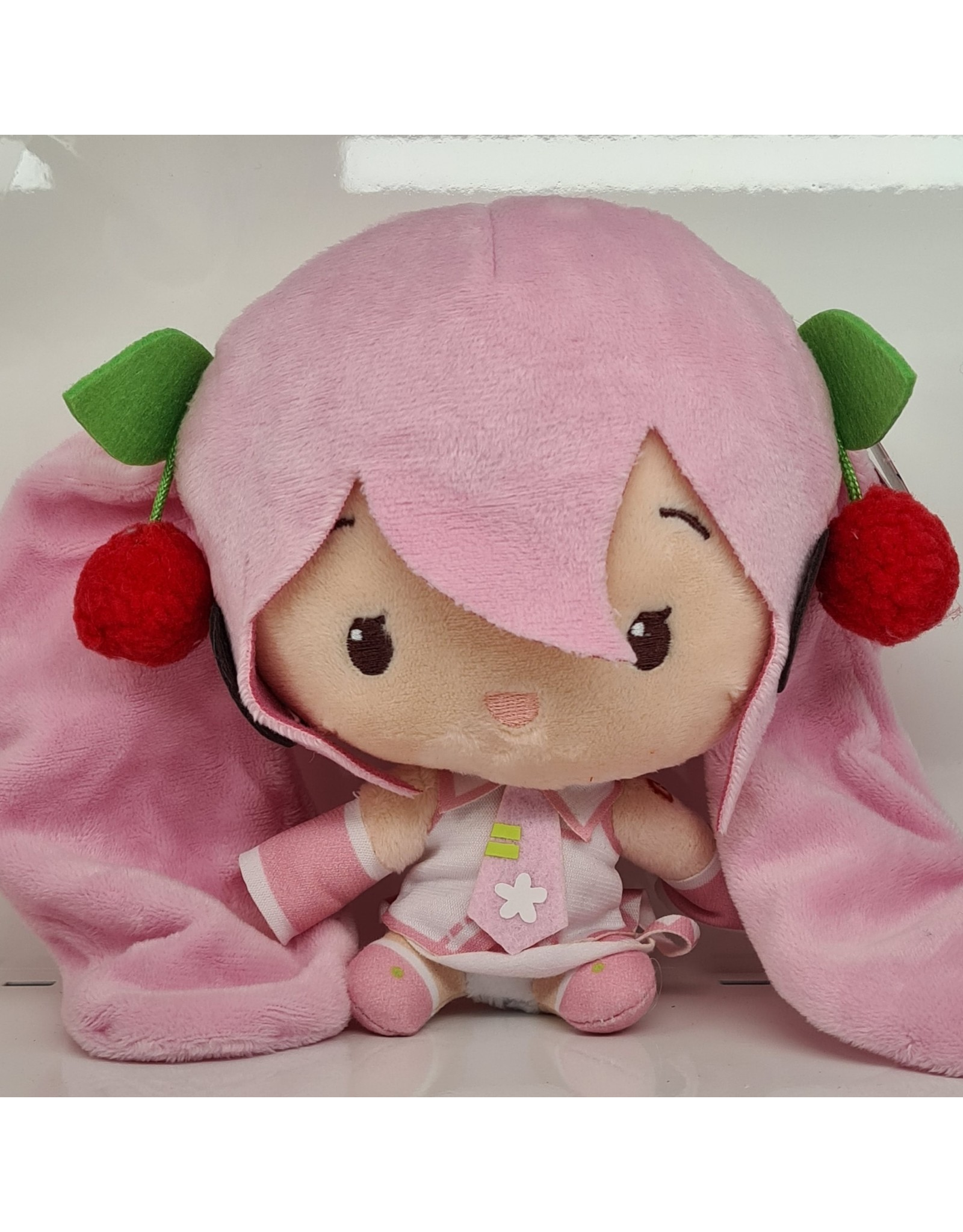 Hatsune Miku Cute Plush Sakura Miku Version - Eyes Open - 14 cm