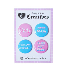 Weeb Button Pack - 4 buttons