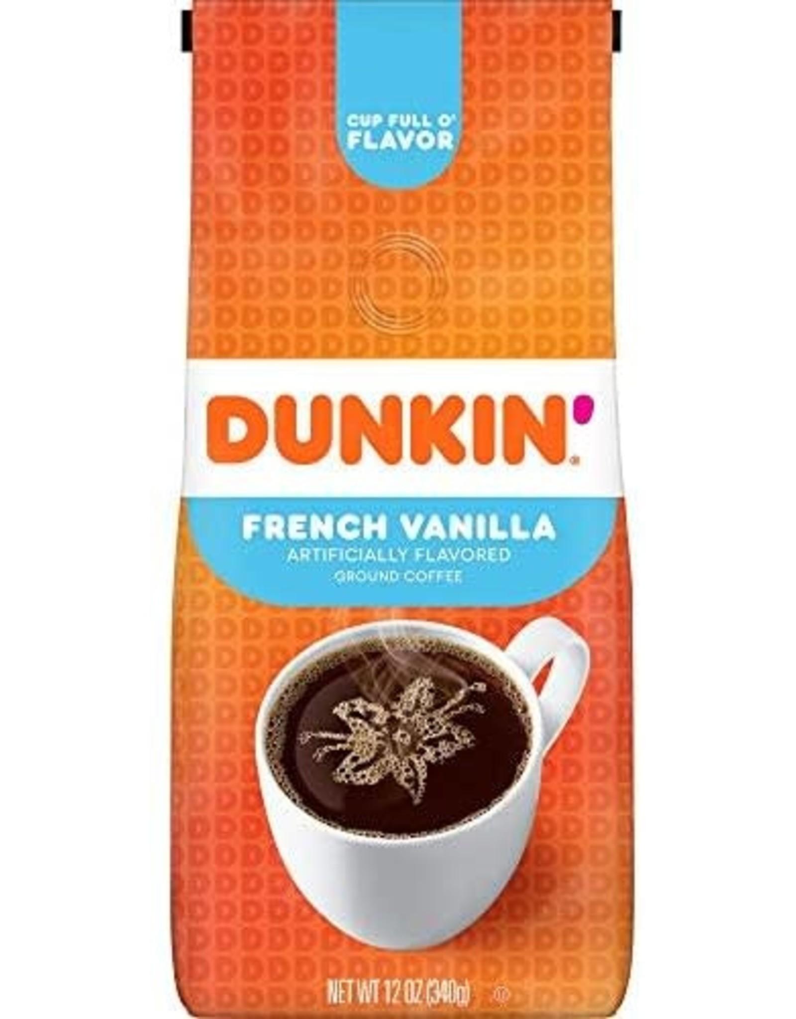 Dunkin Donuts French Vanilla Ground Coffee - 340g