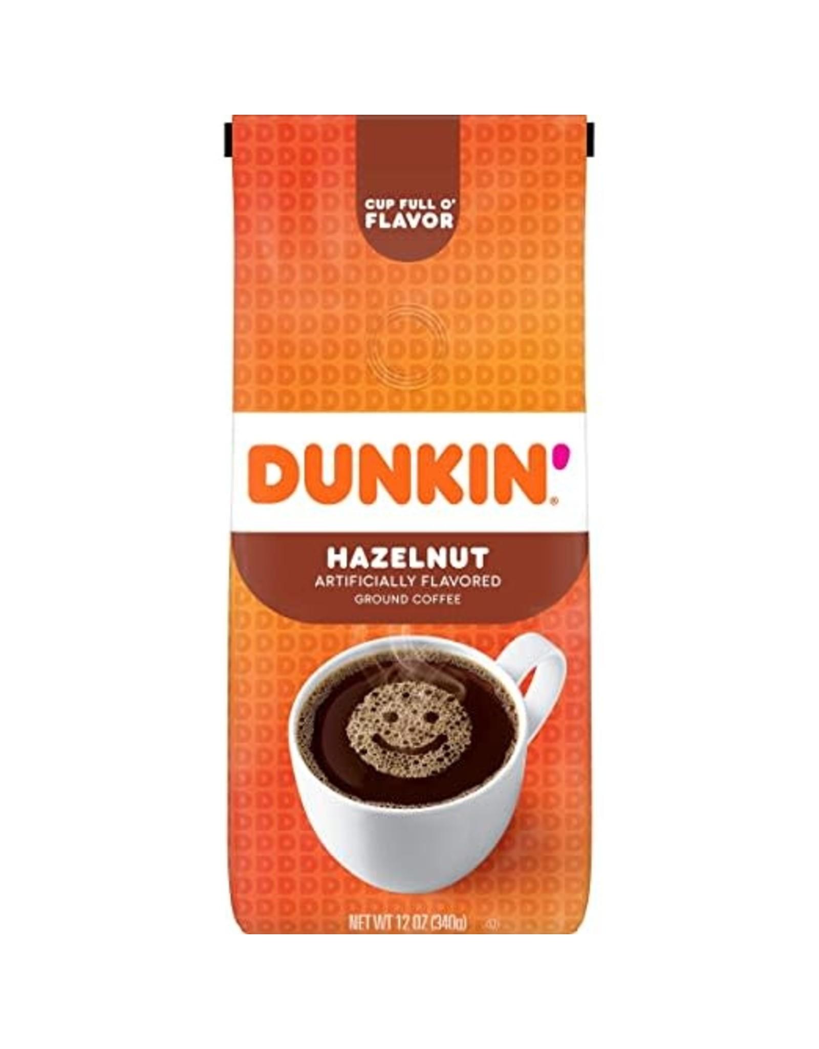 Dunkin Donuts Hazelnut Ground Coffee - 340g
