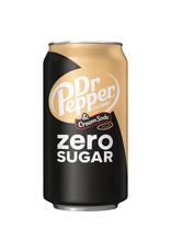 Dr. Pepper Zero Sugar Cream Soda - 355ml