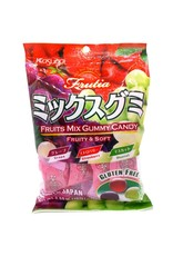 Fruits Mix Gummy Candy with real fruit juice - Grape, Strawberry, Muscat - 102g
