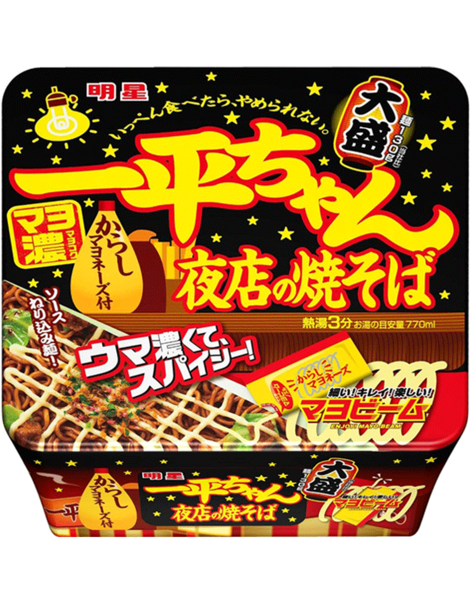 Ippeichan Instant Noodles - Yakisoba Mayonnaise Flavor - 135g