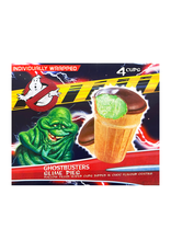 Ghostbusters Slime Pies 4-pack - Mallow Filled Wafer Cups Dipped in Choc Flavour Coating - 120g