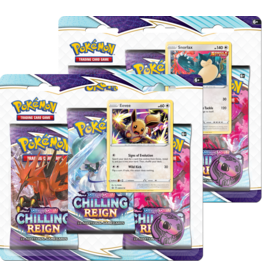 Pokemon Sword & Shield: Chilling Reign - 3-booster Blister - Eevee or Snorlax