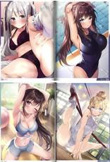 Dengeki Moeoh Magazine - Juni 2021 + Free Art Book 'Stretching Girls' (Japanese)