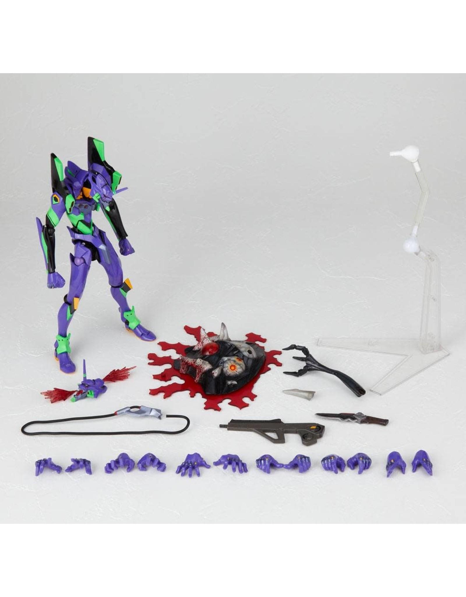 Evangelion - Revoltech Action Figure - EV-001S EVA Unit 01 New Packaging Version - 14 cm
