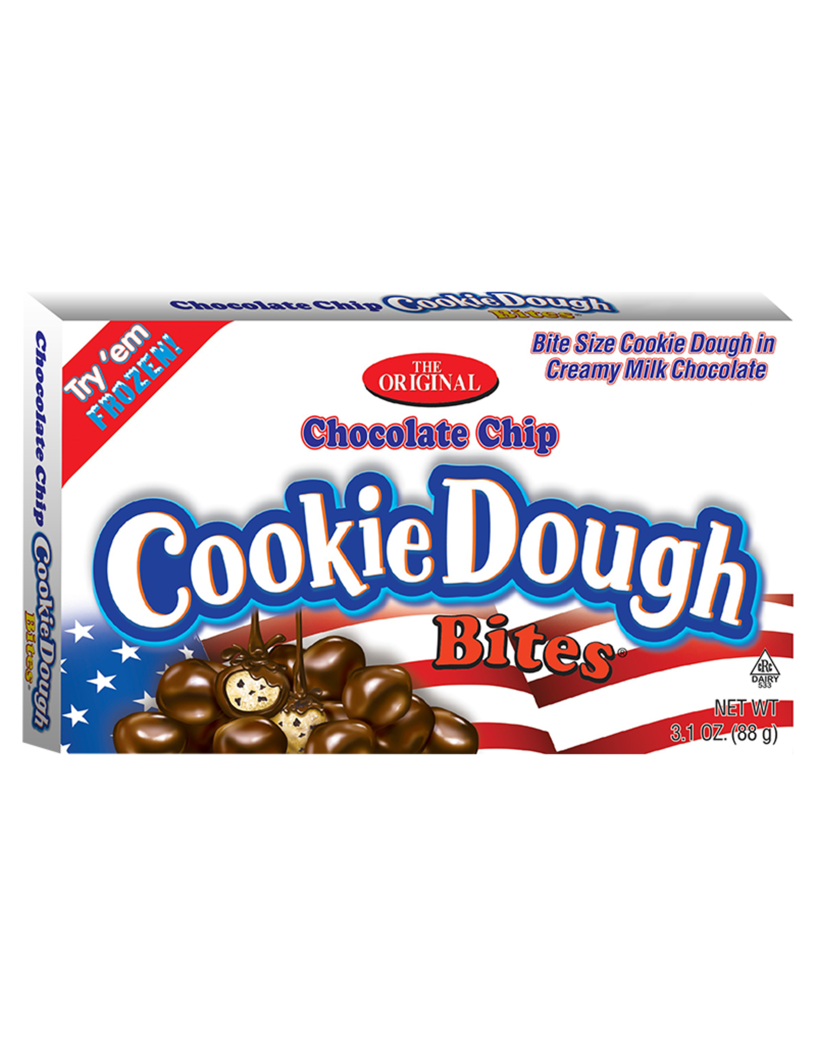 CookieDough Bites: Chocolate Chip Red, White & Blue - 88g