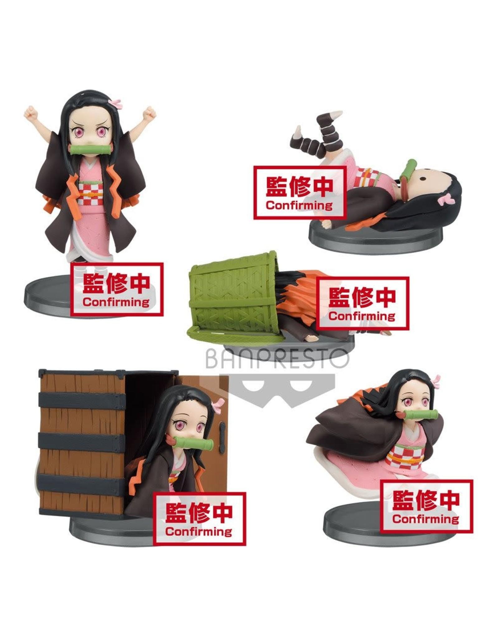 Demon Slayer: Kimetsu no Yaiba - Nezuko Kamado - WCF ChiBi PVC Statues - 7 cm - 1 random item
