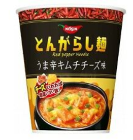 Tongarashi Cup Red Pepper Noodle - Spicy Kimchi Cheese Flavor - 97 g