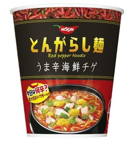 Tongarashi Cup Red Pepper Noodle - Spicy Seafood Flavor - 97 g