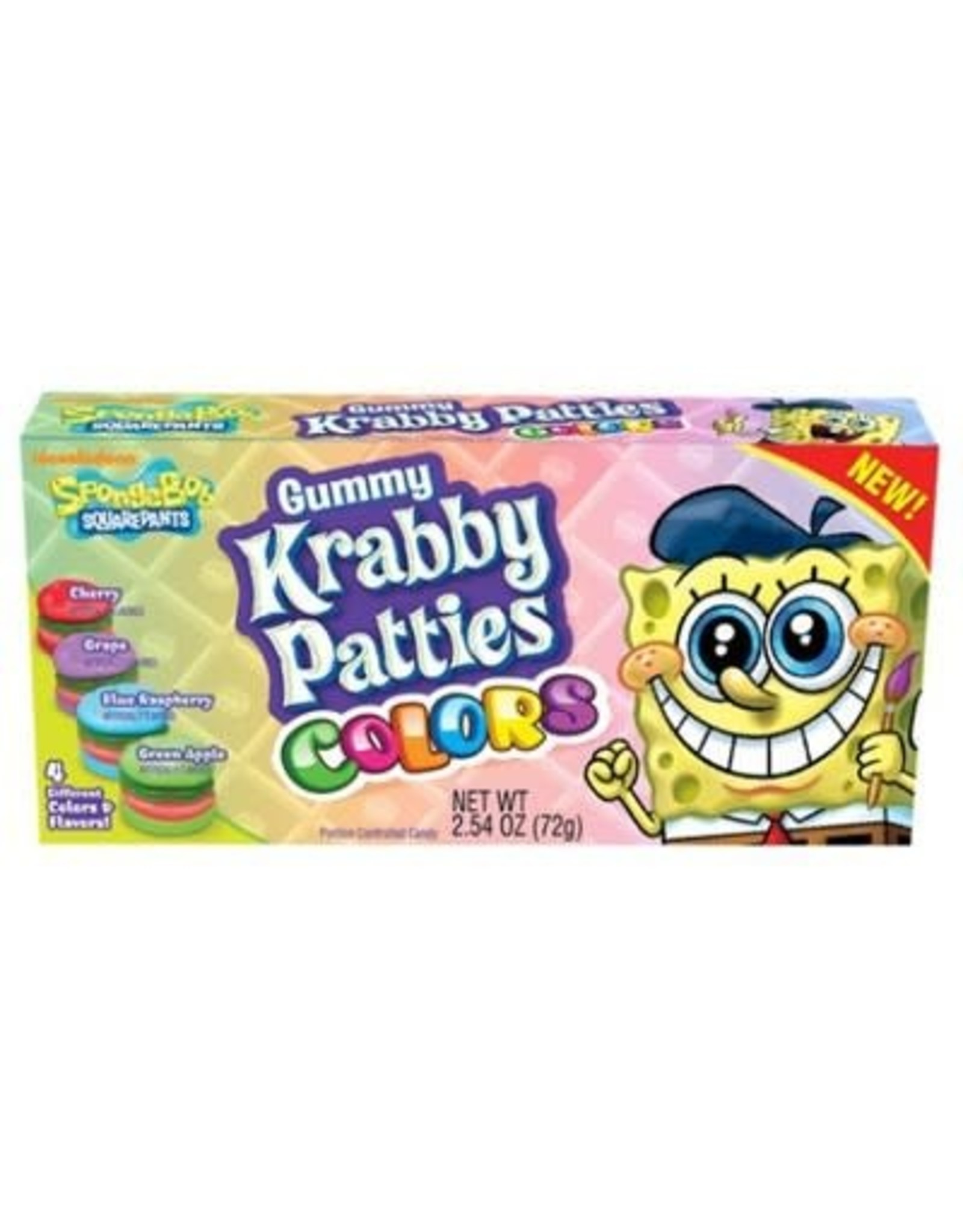 SpongeBob Squarepants Krabby Patties Colors Gummy Candy - 72g