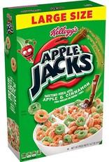 Kellogg's Apple Jacks - Sweetened Cereal with Apple & Cinnamon - Large Size - 416g