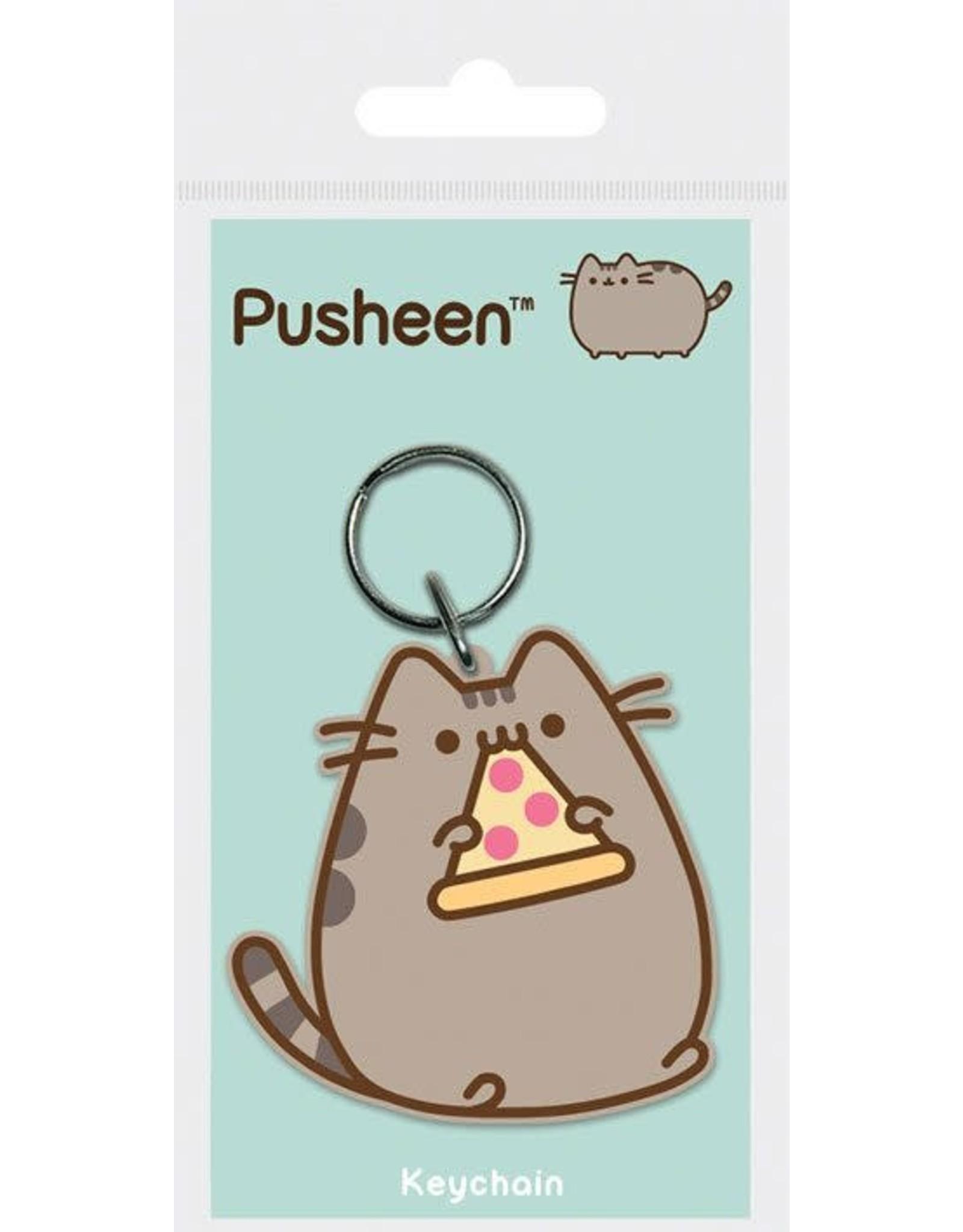 Pusheen - Pusheen with Pizza Rubber Keychain - 6 cm
