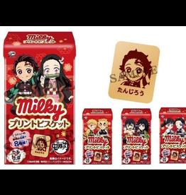 Milky x Demon Slayer: Kimetsu no Yaiba - Print Biscuit Box - 8 pieces - 32g