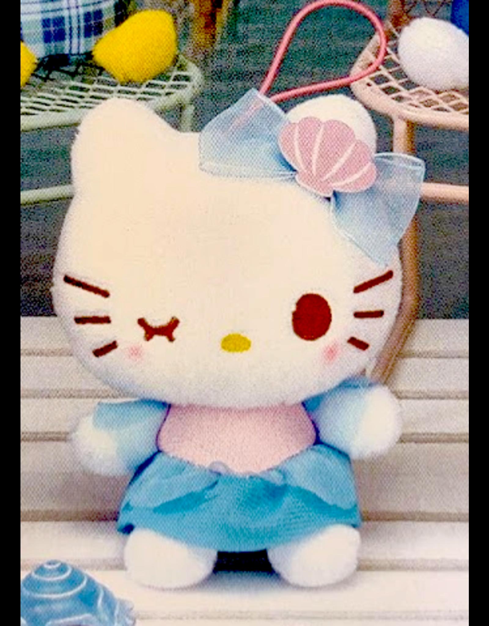 Sanrio Yurukawa Characters Series Mermaid Dress Mascot - Hello Kitty - 10 cm
