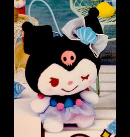 Sanrio Yurukawa Characters Series Mermaid Dress Mascot - Kuromi - 10 cm
