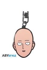 One Punch Man - Metal Keychain - Saitama's Head - 4,4 cm