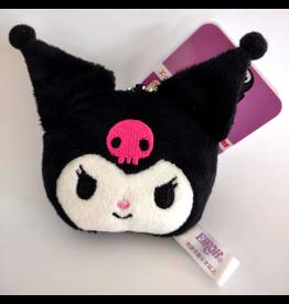 Sanrio Characters - Plush Face Mascot Keychain - Kuromi - 5 cm